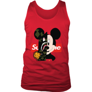 Micke Mouse Supreme Bape Logo Mens Tank Top