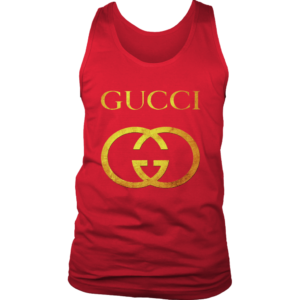 Gucci Gold Logo Mens Tank Top