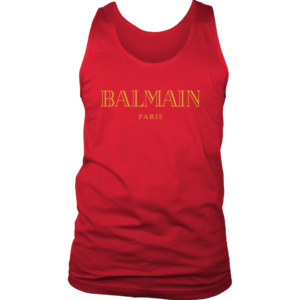 Balmain Gold Logo Mens Tank Top