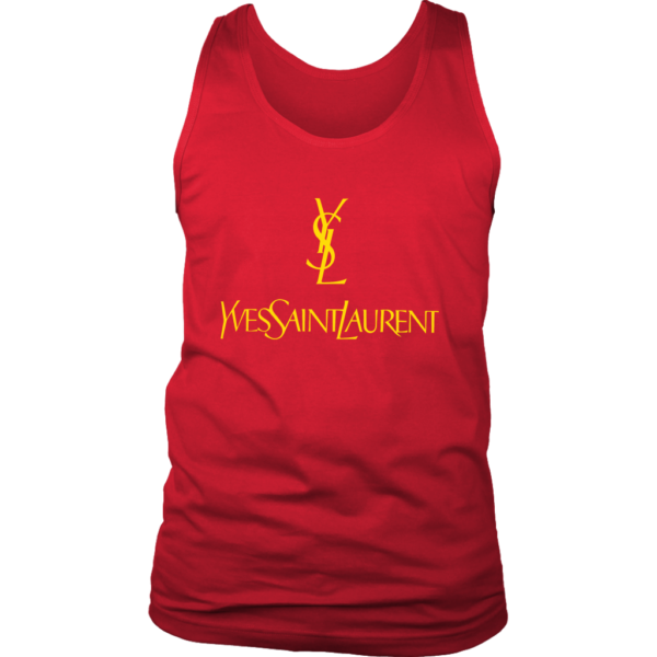 YSL Yves Saint Laurent Logo Mens Tank Top