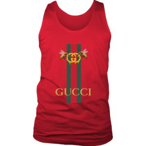 Gucci Bee Logo Drip Mens Tank Top