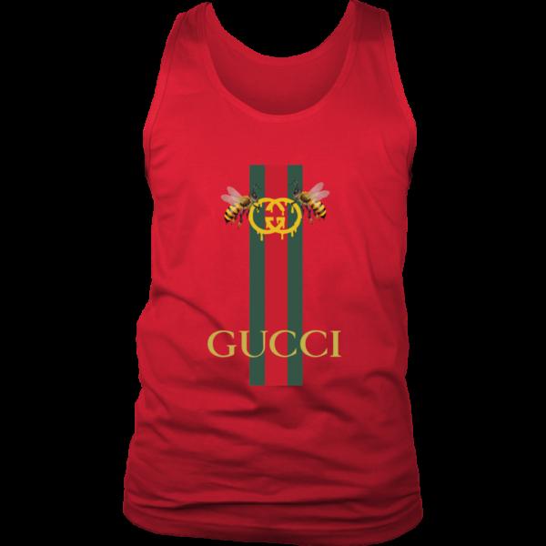 Gucci Bee Logo Drip Mens Tank Top