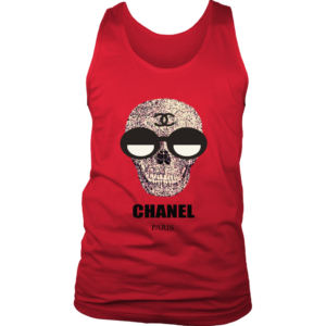 Chanel Skull Logo Mens Tank Top