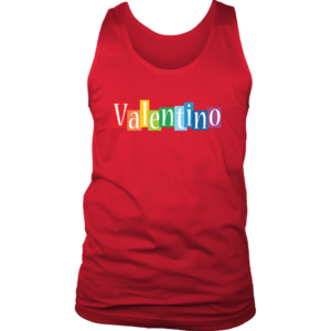Valentino Logo Rainbow Mens Tank Top