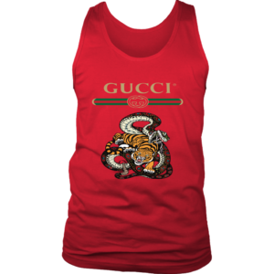 Gucci Logo Edition Tiger Vs Snake Mens Tank Top