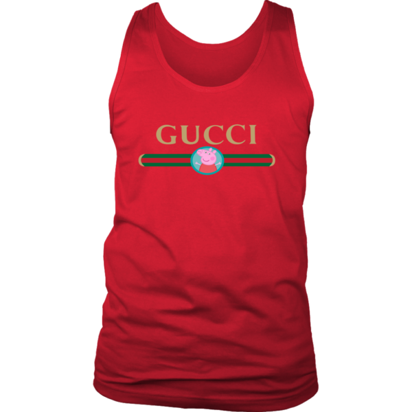 Peppa Pig Gucci Logo Premium Mens Tank Top