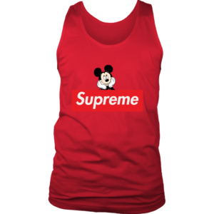 Supreme Mickey Mouse Logo Premium Mens Tank Top