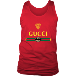 Gucci Logo With Batman Mens Tank Top