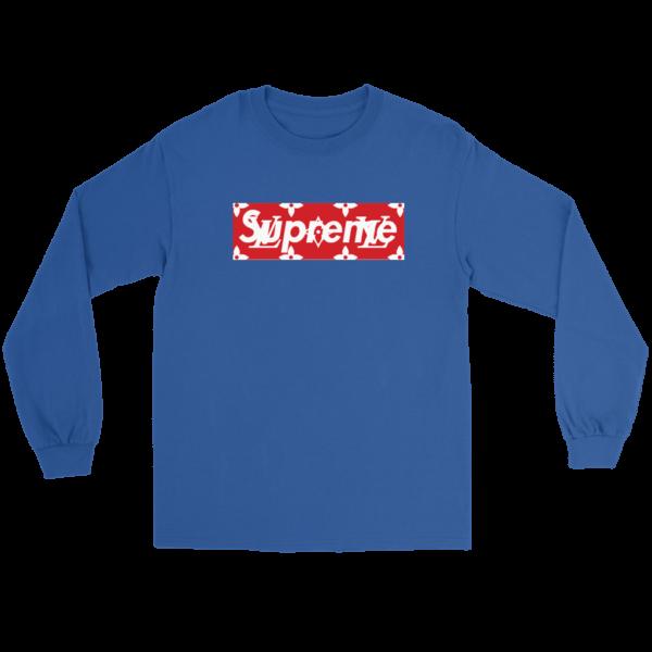 Supreme x Louis Vuitton Logo Long Sleeve Tee