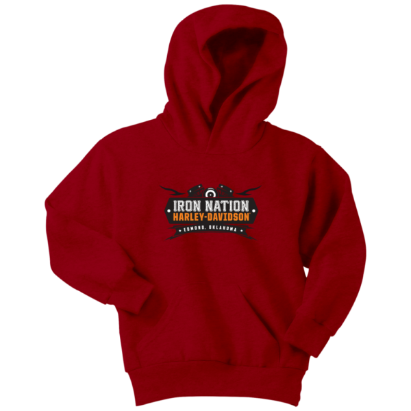 Iron Nation Harley Davidson Logo Youth Hoodie