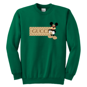 Gucci Mickey Mouse Premium Youth Crewneck Sweatshirt