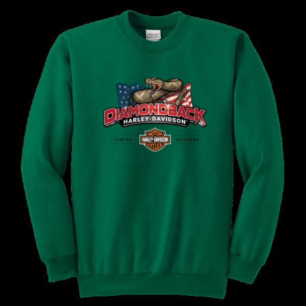 Harley Davidson Logo Premium Youth Crewneck Sweatshirt