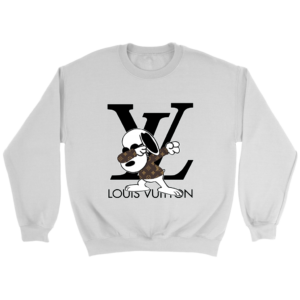 Snoopy Louis Vuitton Logo Crewneck Sweatshirt