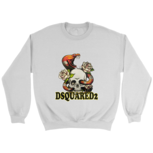 Dsquared2 Snake Skull And Rose Crewneck Sweatshirt