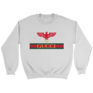 Gucci Red Eagle Bird Logo Crewneck Sweatshirt