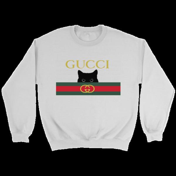 Gucci Black Cat Secret Logo Crewneck Sweatshirt