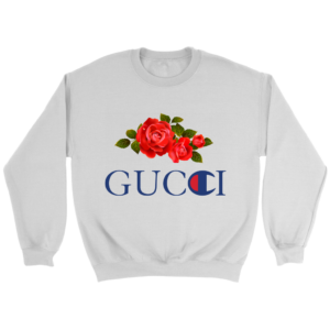 Gucci Champion Rose Crewneck Sweatshirt
