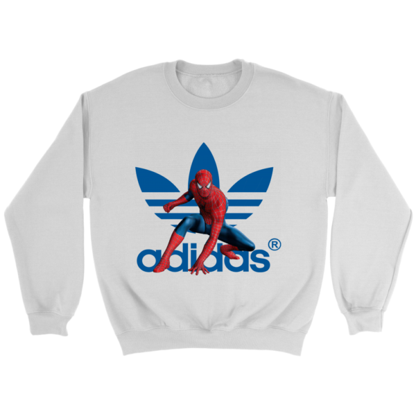 Spiderman Adidas Marvel Logo Crewneck Sweatshirt