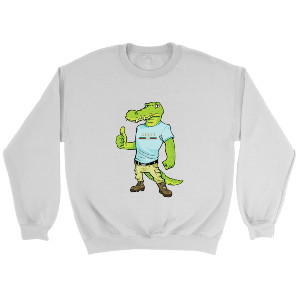Crocodile Gucci Alligator Printed Crewneck Sweatshirt