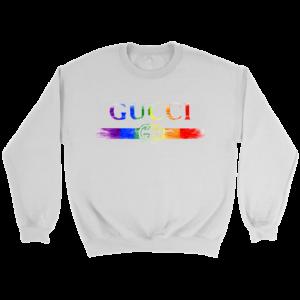 Gucci Rainbow LGBT Style Logo Limited Edition Crewneck Sweatshirt