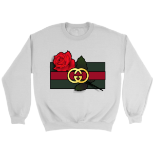Gucci Rose Printed Crewneck Sweatshirt