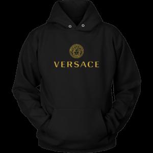 Versace Gold Logo Unisex Hoodie