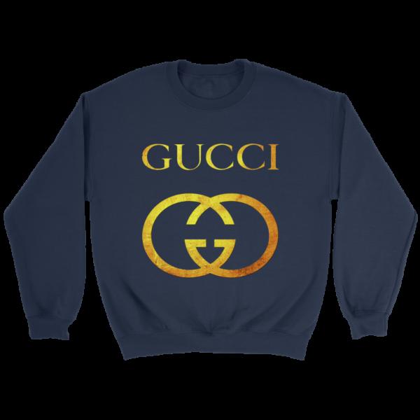 Gucci Gold Logo Crewneck Sweatshirt