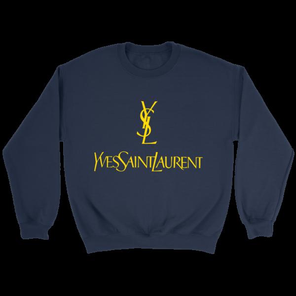 YSL Yves Saint Laurent Logo Crewneck Sweatshirt