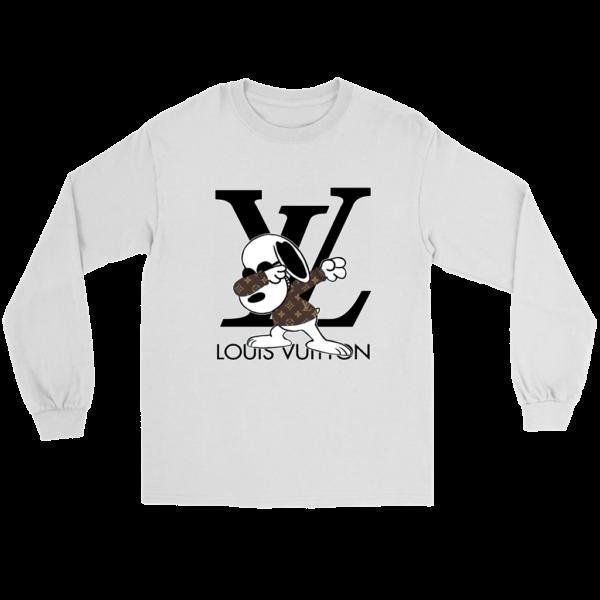 Snoopy Louis Vuitton Logo Long Sleeve Tee