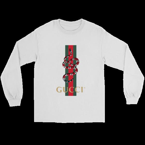 Gucci Snake Logo Long Sleeve Tee