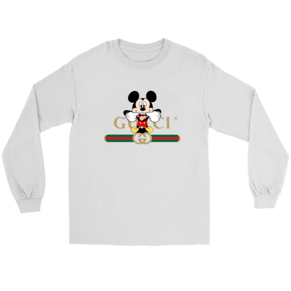 Gucci Logo Mickey Mouse Clubhouse Disney Long Sleeve Tee