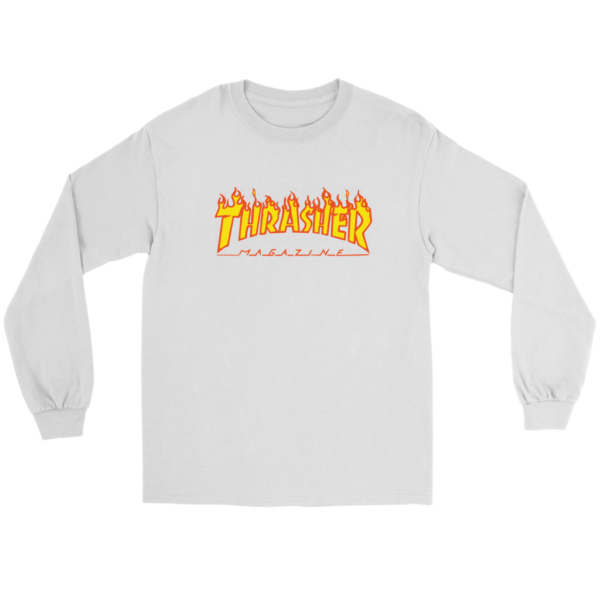 Thrasher Flame Logo Long Sleeve Tee