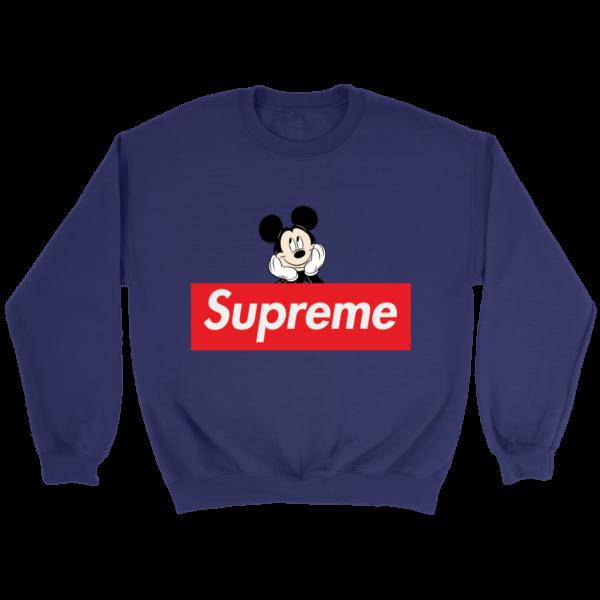 Supreme Mickey Mouse Logo Premium Crewneck Sweatshirt