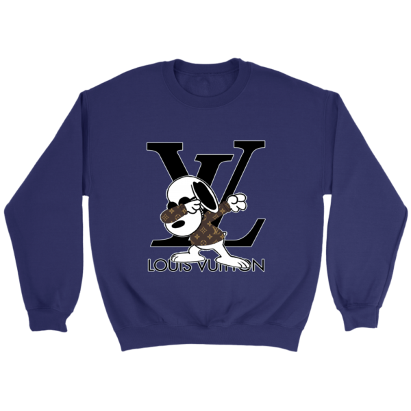 Snoopy Louis Vuitton Logo Crewneck Sweatshirt