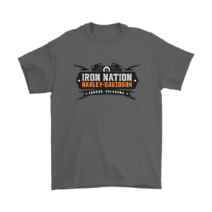 Iron Nation Harley Davidson Logo Mens T-Shirt