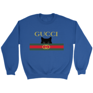 Gucci Black Cat Secret Logo Crewneck Sweatshirt