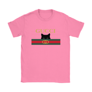Gucci Black Cat Secret Logo Womens T-Shirt