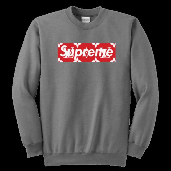 Supreme x Louis Vuitton Logo Youth Crewneck Sweatshirt