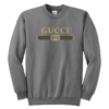 Gucci Gold Logo Youth Crewneck Sweatshirt