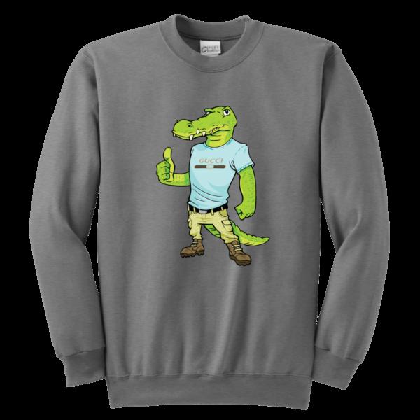 Crocodile Gucci Alligator Printed Youth Crewneck Sweatshirt