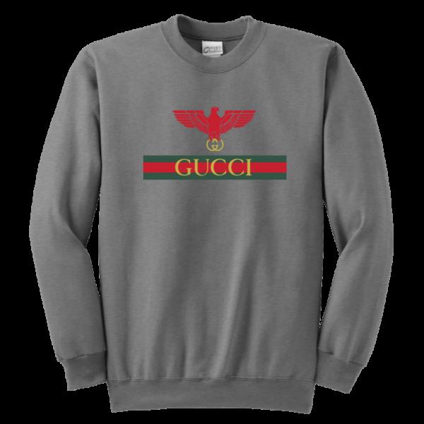 Gucci Red Eagle Bird Youth Crewneck Sweatshirt