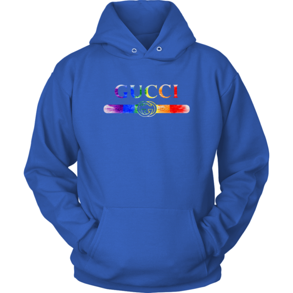 Gucci Rainbow LGBT Style Logo Limited Edition Unisex Hoodie