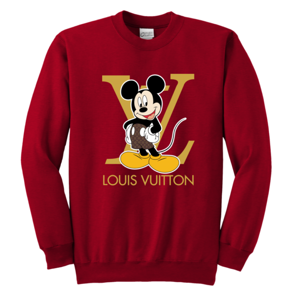 Louis Vuitton Mickey Mouse Youth Crewneck Sweatshirt