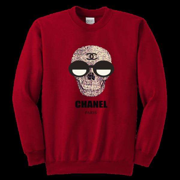 Chanel Skull Logo Youth Crewneck Sweatshirt