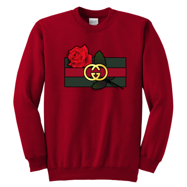 Gucci Rose Printed Youth Crewneck Sweatshirt