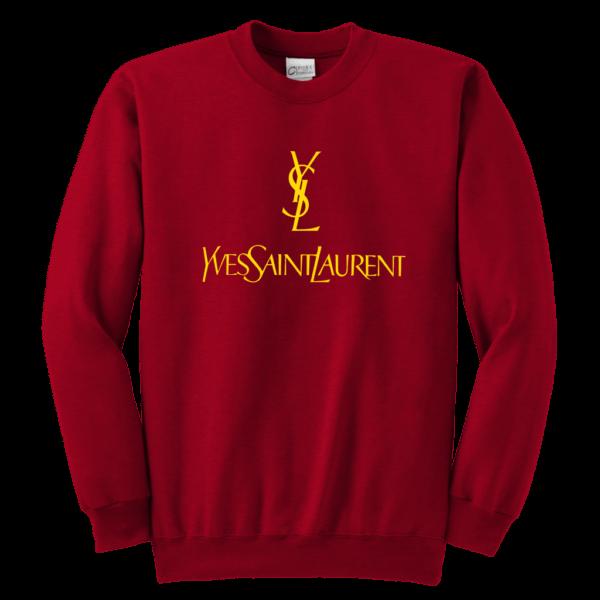 YSL Yves Saint Laurent Logo Youth Crewneck Sweatshirt