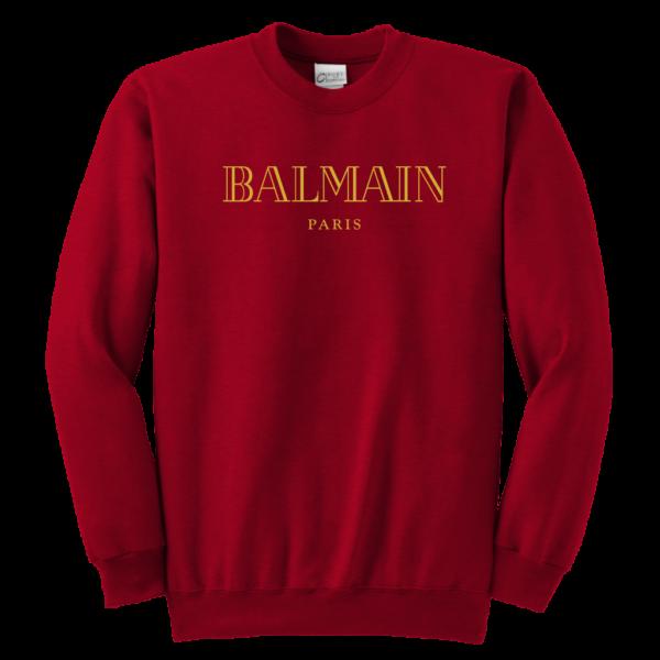 Balmain Gold Logo Youth Crewneck Sweatshirt