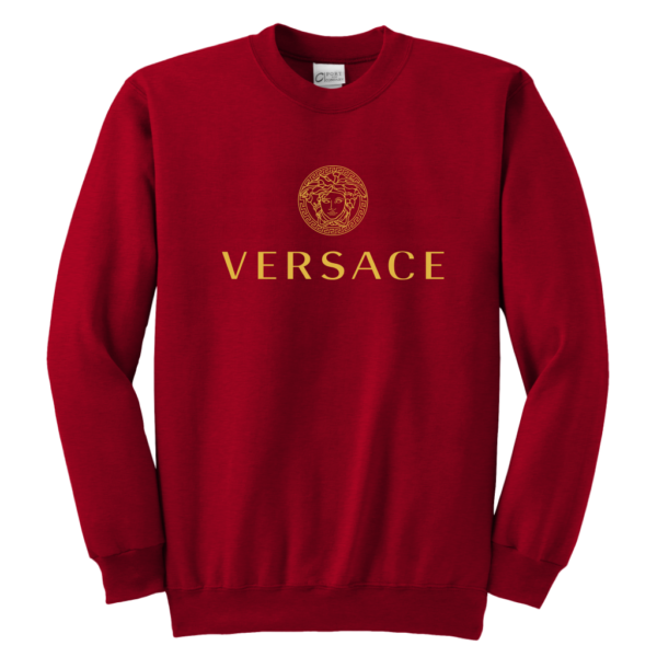 Versace Gold Logo Youth Crewneck Sweatshirt