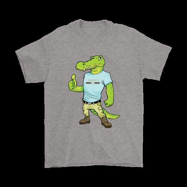 Crocodile Gucci Alligator Printed Mens T-Shirt