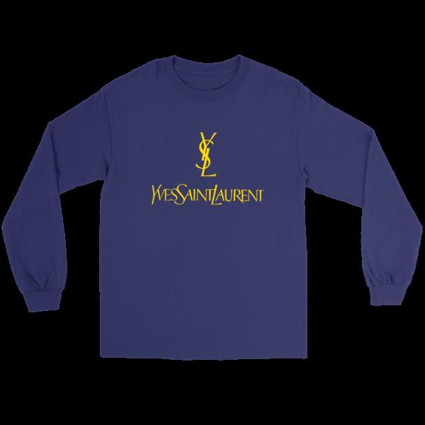 YSL Yves Saint Laurent Logo Long Sleeve Tee